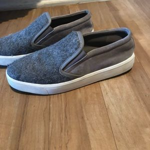 Gray flannel slip on Vince tennis shoes